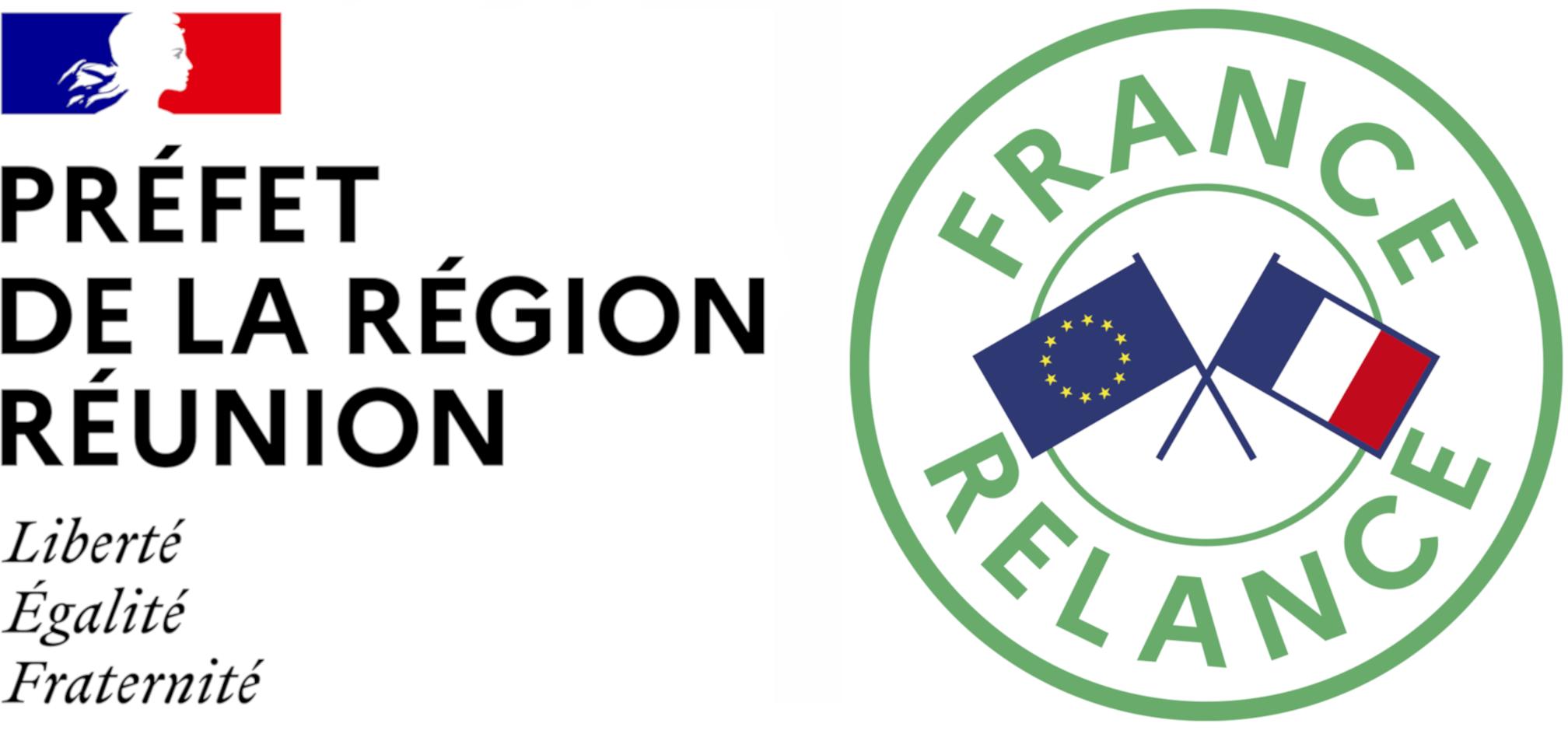Logo : France Relance pour l'île de La Réunion