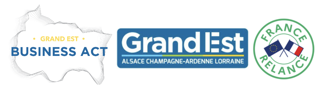 Logo : Business Act et France Relance pour la région Grand Est